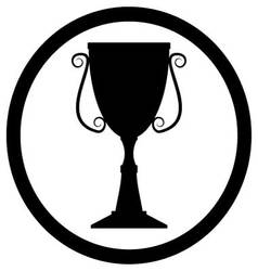 Trophy cup black vector