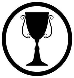 Trophy cup black vector image