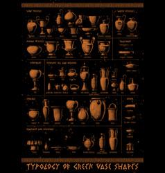 typology greek vase shapes vector image