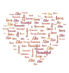 Valentines Day word cloud concept vector image