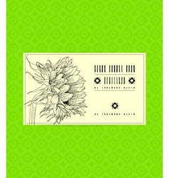 Vintage card with sunflower vector image