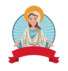 Virgin mary blessed sac image vector