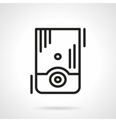 Water boiler black line icon vector