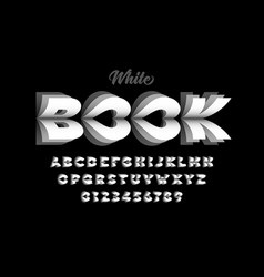 White book pages style font vector