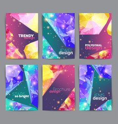 abstract fashion posters business card set vector image vector image