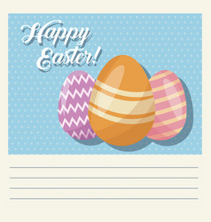 cartoon happy easter cute egg decorative vector image vector image