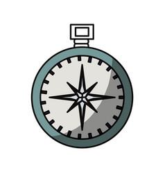 Compass travel navigation vector