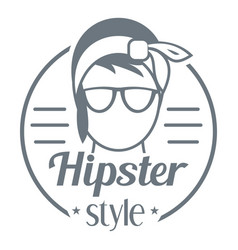 hipster style logo simple style vector image