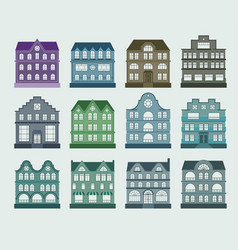 house architecture set vector image vector image