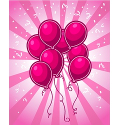 Pink Party Balloons vector image vector image