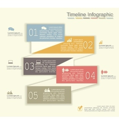 Retro infographics with elements and icons vector image