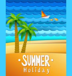 summer holidays landscape vector image vector image