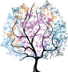 Tree in Baterffly vector image vector image
