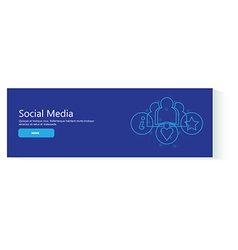 banner social media vector image vector image