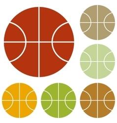 Basketball ball sign vector image vector image