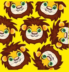 cartoon of the mug lion vector image