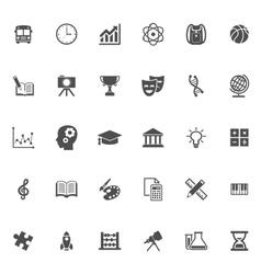 Education flat icon vector