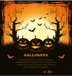 Orange grungy halloween background vector image vector image