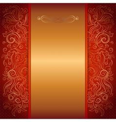 red royal invitation card vector image