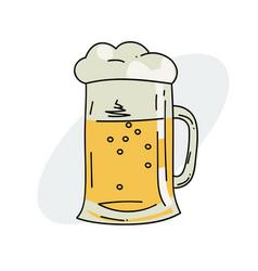 tankard of beer vector image