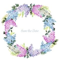 Watercolor floral wreath vector image vector image