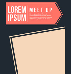cool colorful background meet up card style vector image vector image