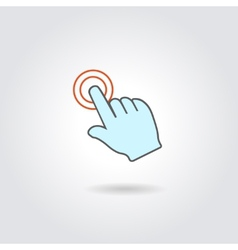 Hand with touching a button or pointing finger vector image vector image