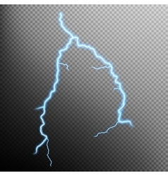Lightning isolated EPS 10 vector image vector image