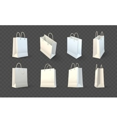 Set of paper shopping bags vector image vector image