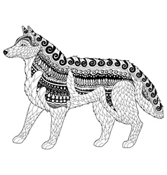 Siberian husky with high details vector image
