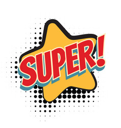 super comic word vector image