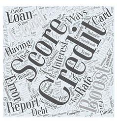 boost credit score Word Cloud Concept vector image vector image