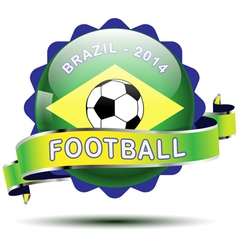 brazil icon button vector image