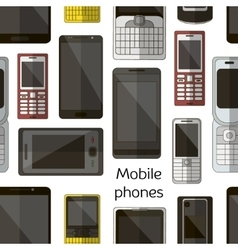 Mobile phones set pattern vector image