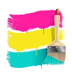 paint brush background vector image vector image