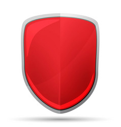 red shield icon vector image