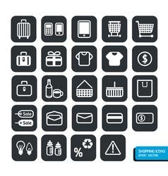Shopping icons set design vector