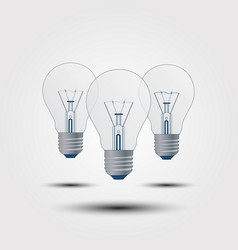 with the light bulb on a gray background vector image