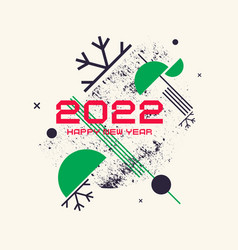 A poster for the celebration of the new year 2022 vector
