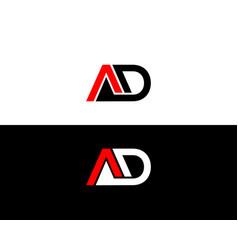 Ad letter logo design creative graphic idea vector