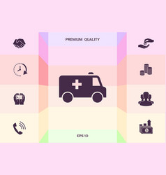 ambulance symbol icon graphic elements for your vector image