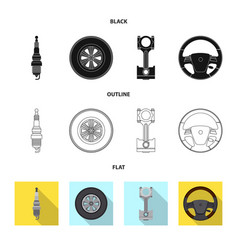 Auto and part sign set of vector