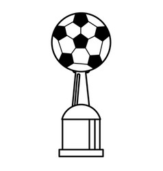 award cup soccer sport outline vector image