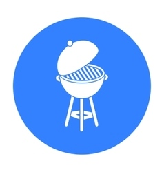 Barbecue icon in black style isolated on white vector image