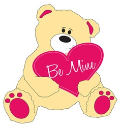 Be Mine Teddy Bear vector image