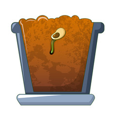 bean in ground icon cartoon style vector image