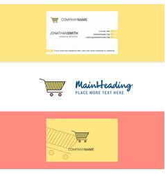 beautiful cart logo and business card vertical vector image