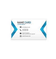 blue business modern name card image vector image