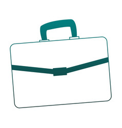 Busines briefcase isolated blue lines vector