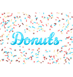 Card with decorative donut sprinkles vector